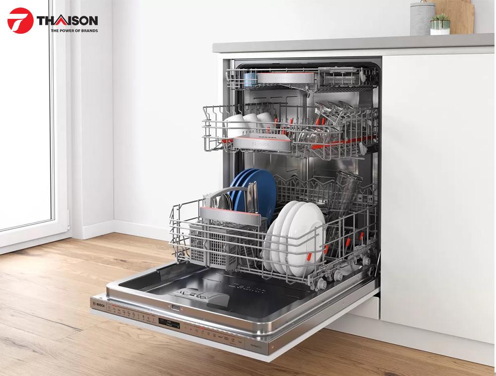 Hệ thống giỏ của máy rửa bát Bosch
