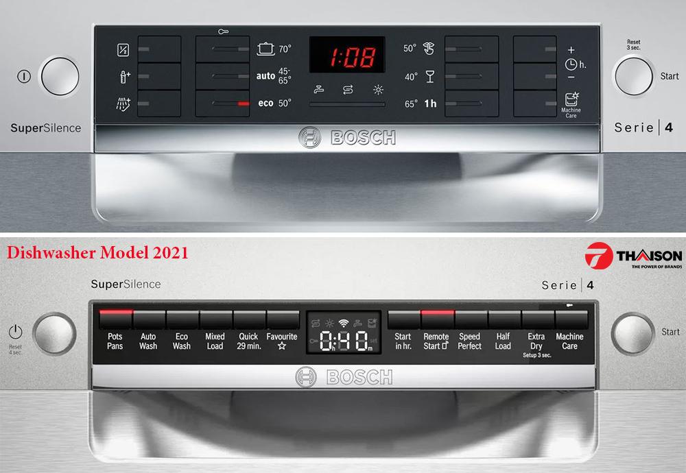 bảng điểu khiển máy rửa bát Bosch Serie 4 2021