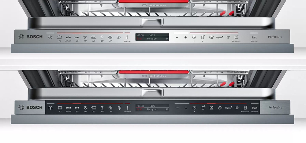 Bảng điều khiển 02 model máy rửa bát Bosch.