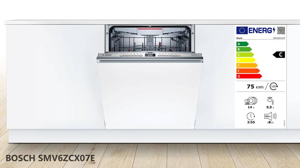 Máy rửa bát Bosch SMV6ZCX07E âm bán phần.
