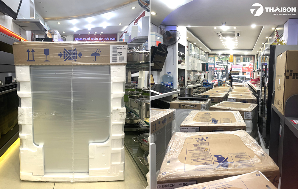 Máy rửa bát Bosch SMV6ZCX07E có sẵn tại địa chỉ Showroom Bếp Thái Sơn.