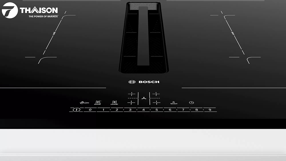 Bảng điều khiển in lên mặt bếp từ Bosch