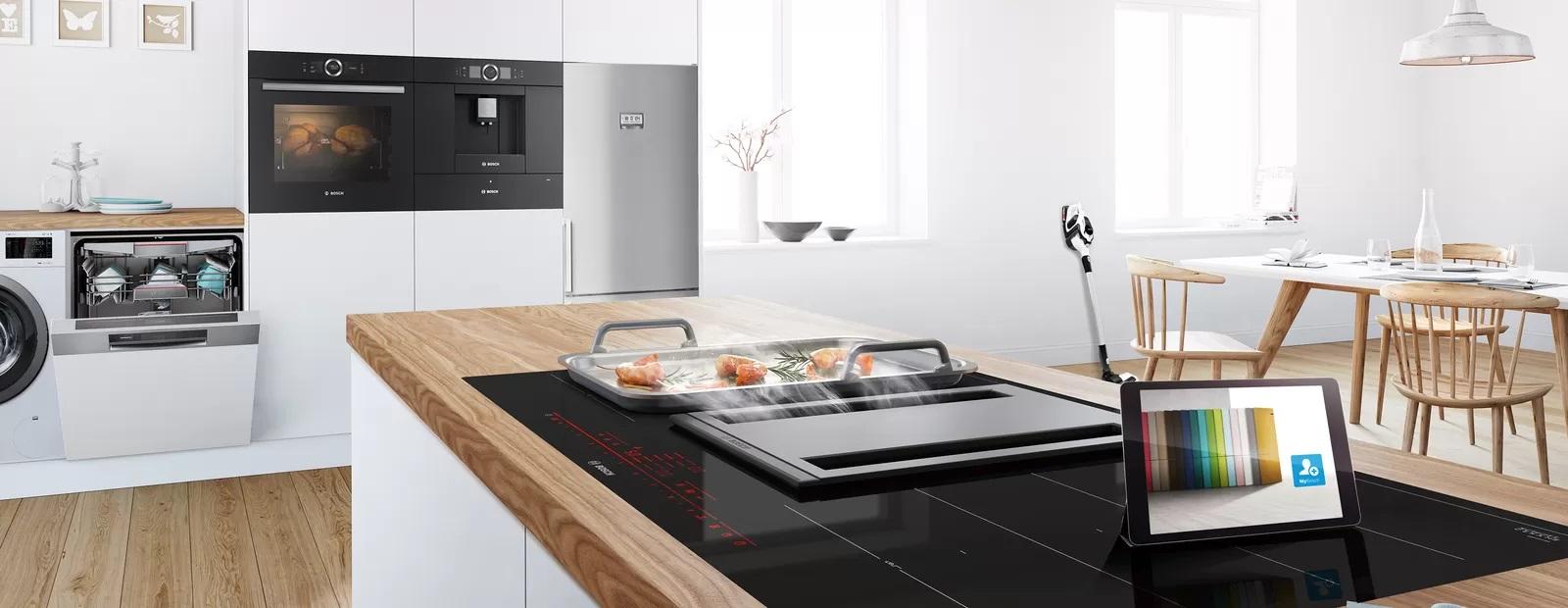 Bếp từ Bosch trong không gian bếp hiện đại