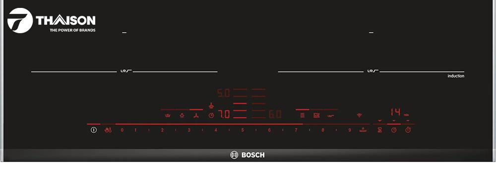Bảng điểu khiển bếp Bosch có đèn LED
