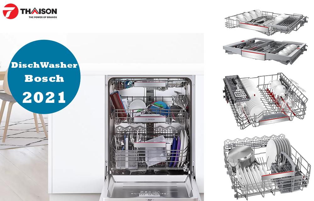 Hệ thống giỏ máy rửa bát Bosch mới nhất 2021.