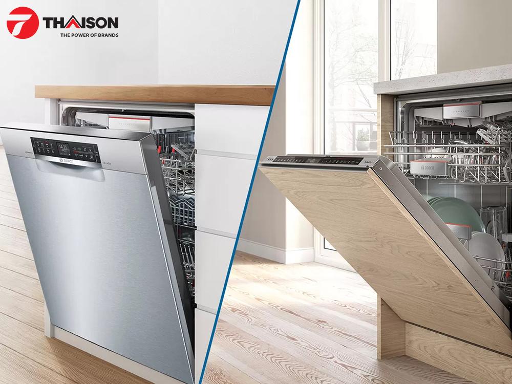 Máy rửa bát độc lập và âm tủ Bosch