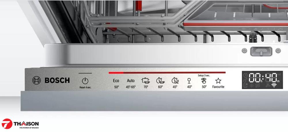 Biểu tượng Favourite trên bảng điều khiển máy rửa bát Bosch âm.