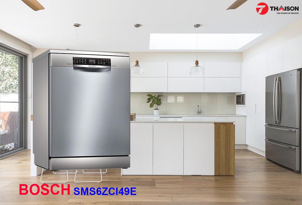 Máy rửa bát Bosch SMS6ZCI49E hiện đại ngang Serie 8.