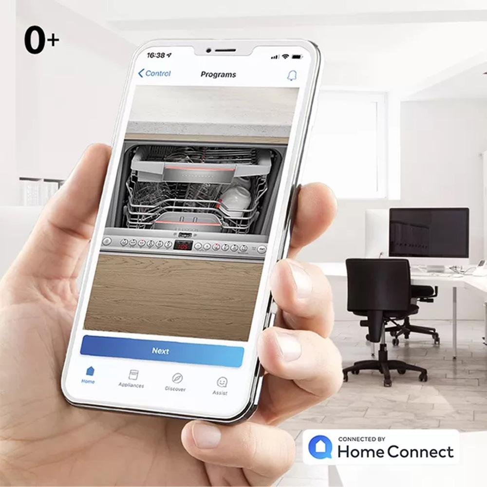 Sử dụng ứng dụng Home Connect cài đặt chương trình yêu thích.