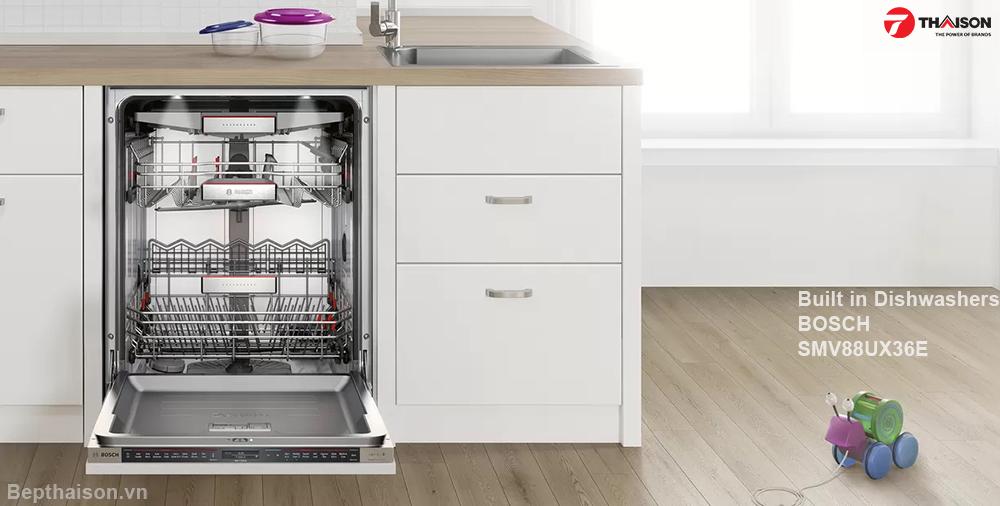 Máy rửa bát âm tủ Bosch Serie 8 cao cấp  - SMV88UX36E.