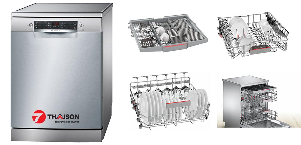 Hệ thống dàn rửa của máy rửa bát