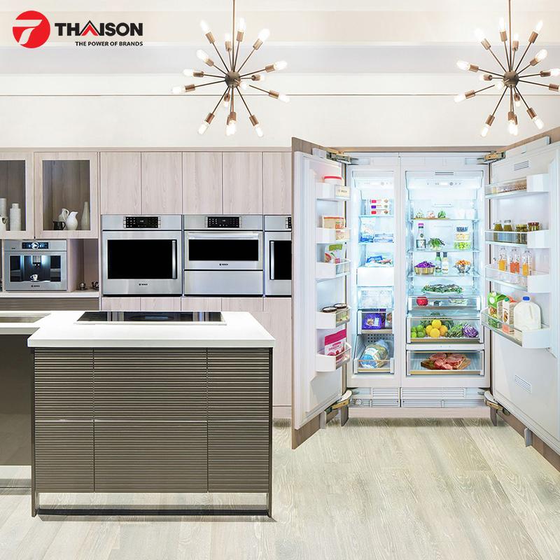 Tủ lạnh Side by side có nhiều không gian lưu trữ đồ ăn lớn