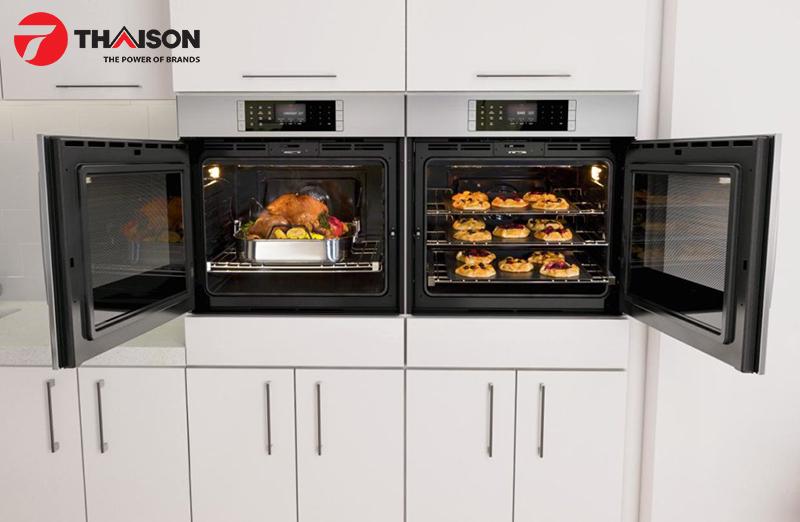 Lò nướng cửa bên thuận tiện sử dụng và thẩm mỹ cao