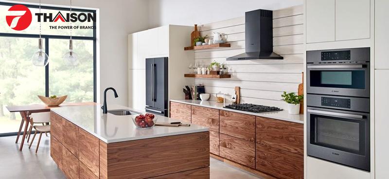 Thiết bị bếp Bosch thép không gỉ màu đen đang là xu hướng mới