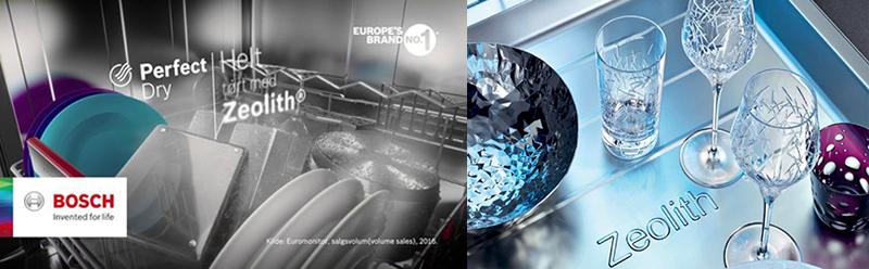 công nghệ sấy Zeolith của máy rửa bát Bosch đã giành nhiều giải thưởng