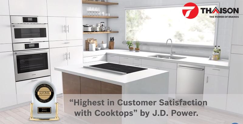 Thiết bị bếp Bosch đứng đầu sự hài lòng khách hàng
