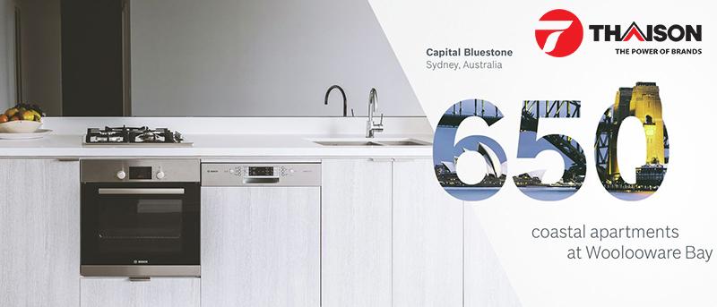 Hầu hết các căn hộ sang trọng ở Châu Đại Dương đều sử dụng thiết bị gia dụng Bosch