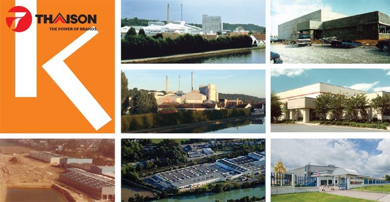 Các nhà máy của Euro Kera tại bốn quốc gia: Pháp, Mỹ, Trung Quốc, Thái Lan