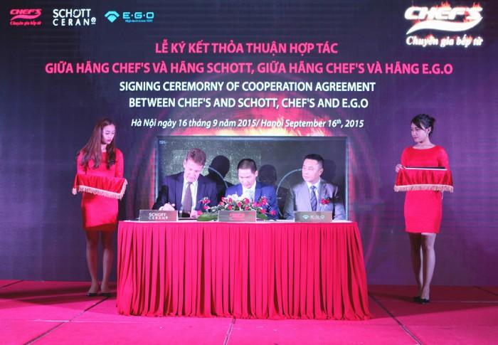 Chefs hợp tác với ego và schott