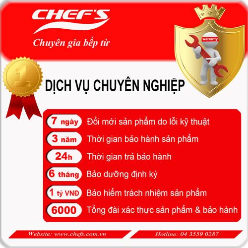 Chế độ hậu mãi của thương hiệu Chefs.