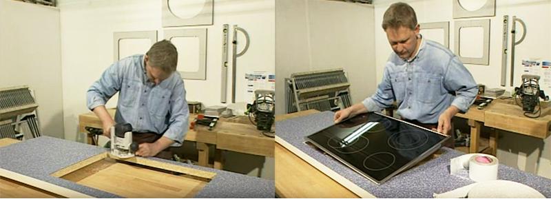 Khoét đá là bước quan trọng tiên quyết giúp lắp đặt bếp âm đúng cách