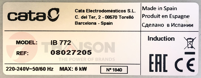 Bếp từ Cata IB-772 made in Spain.