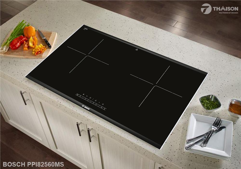 Bếp từ đôi Bosch PPI82560MS phù hợp với gia đình.