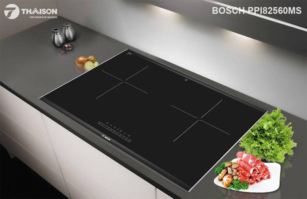 Bếp từ đôi Bosch PPI82560MS hiện đại.