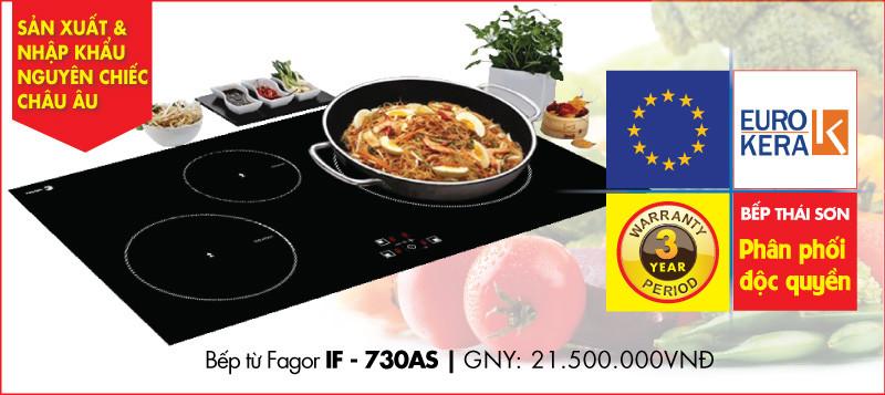 Bếp từ Fagor IF - 730AS là sản phẩm hot nhất trong năm 2017