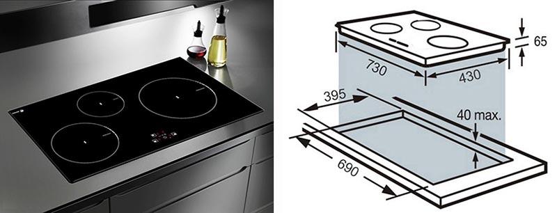 Duy nhất có model bếp ba từ Fagor IF - 730AS có kích thước có thể thay thế cho bếp đôi
