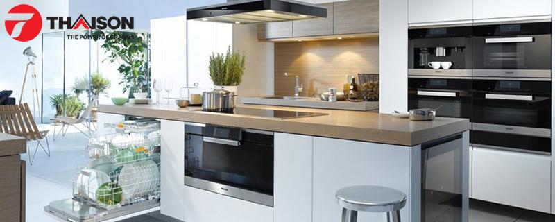Bếp từ Châu Âu mang lại không gian bếp sang trọng cho căn bếp