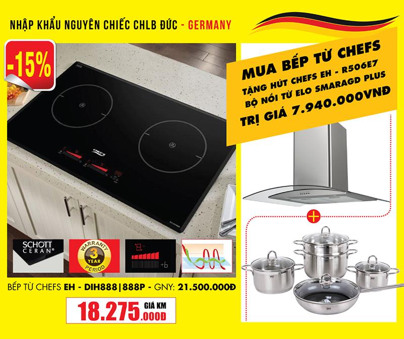 Bếp từ Chefs EH – DIH888 - Made in Germany, ứng dụng công nghệ biến tần Inverter