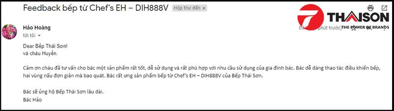 Phản hồi của khách hàng mua bếp từ Chef's EH – DIH888V