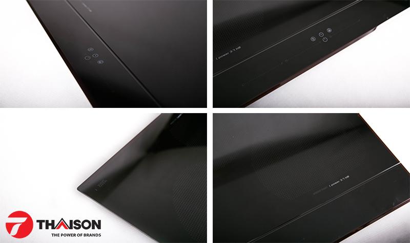 Mặt kính Schott Ceran và rãnh chống tràn tạo nên đẳng cấp cho bếp từ Nodor