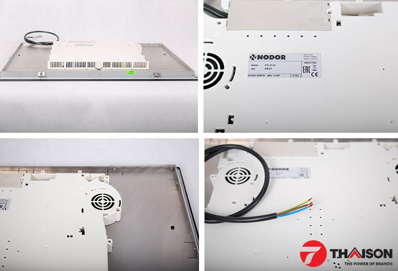Tem, dây điện, hệ thống tản nhiệt của bếp ba từ Nodor IPS - 37B1BK