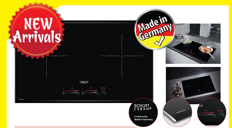 Bếp từ Chef's EH – DIH888V tích hợp Inverter và phong cách thiết kế Châu Âu