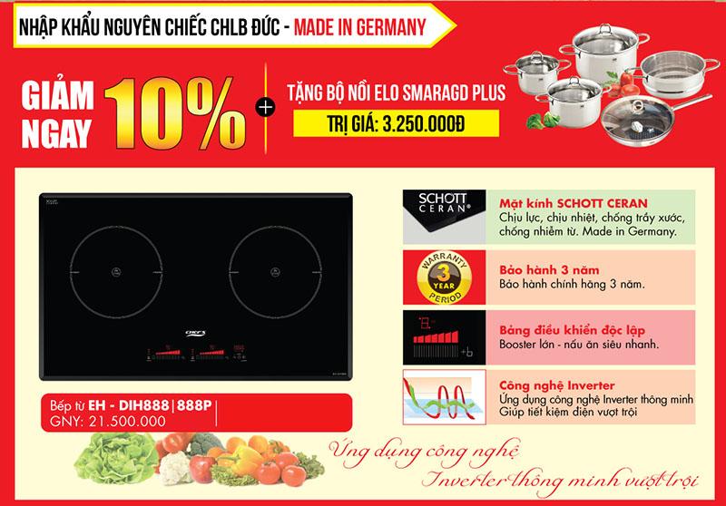 Nên mua bếp từ Chef's EH – DIH888 Inverter CHLB Đức trong tháng 10 này