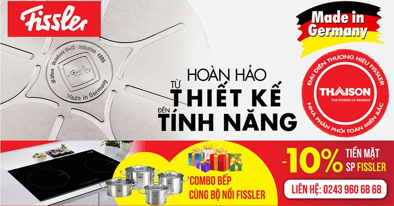 Khuyến mại Fissler tại Bếp Thái Sơn nhân ngày 20/11