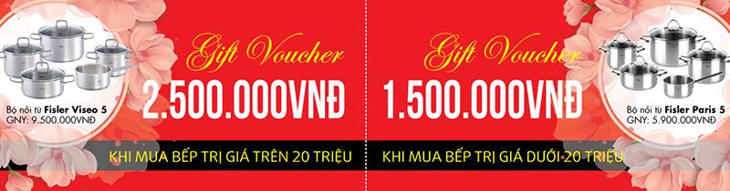 Khuyến mại mua bếp tặng voucher Fissler duy nhất tại Bếp Thái Sơn
