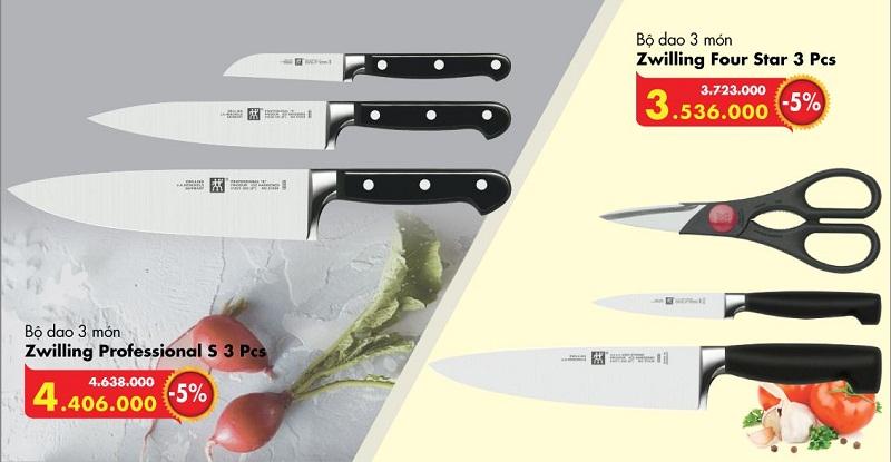 Giá cả bộ dao Zwilling Đức