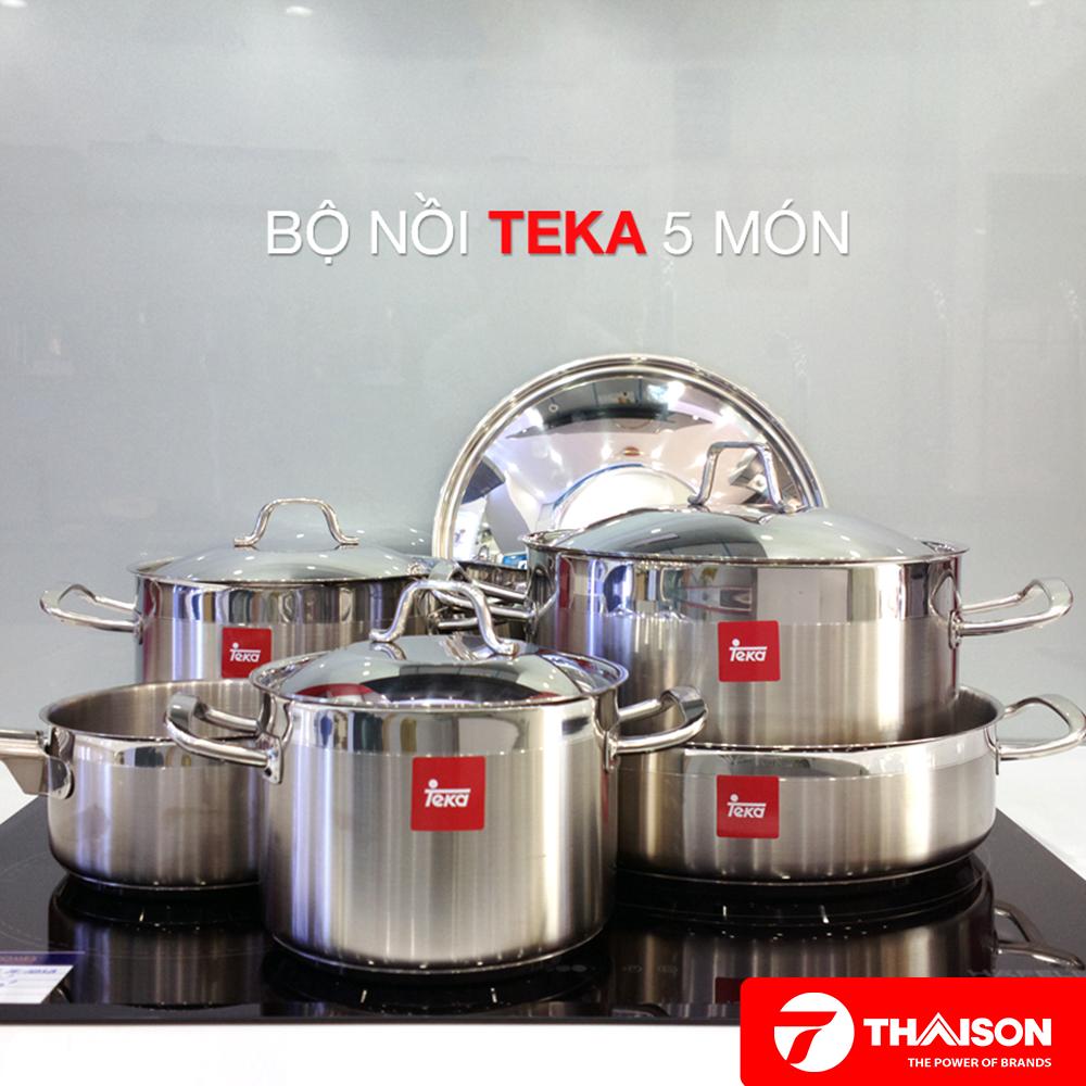 Bộ nồi 5 món Teka thiết kế theo tiêu chuẩn Châu Âu.