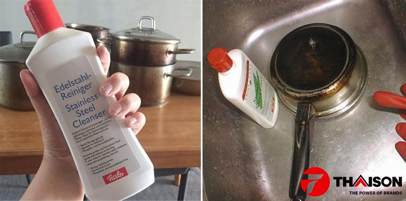 Sử dụng dung dịch vệ sinh chuyên dụng cho Inox.