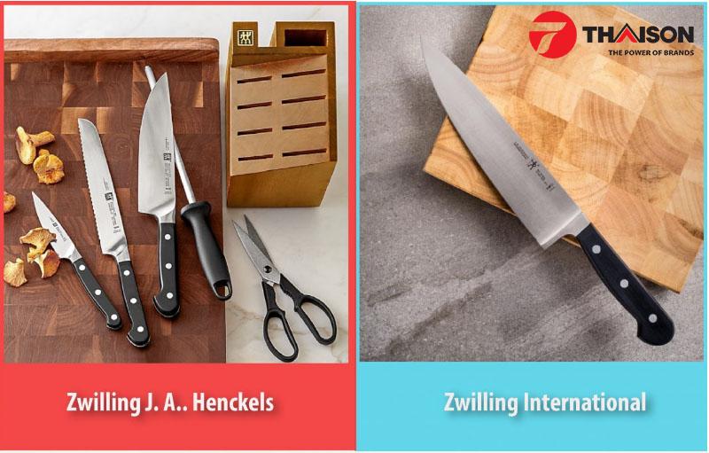Hai thương hiệu dao của Zwilling: Zwilling JA Henckels và JA Henckels International