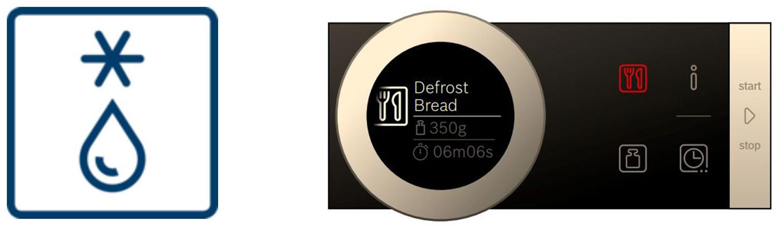 Chức năng rã đông lò vi sóng Bosch – Defost Bread
