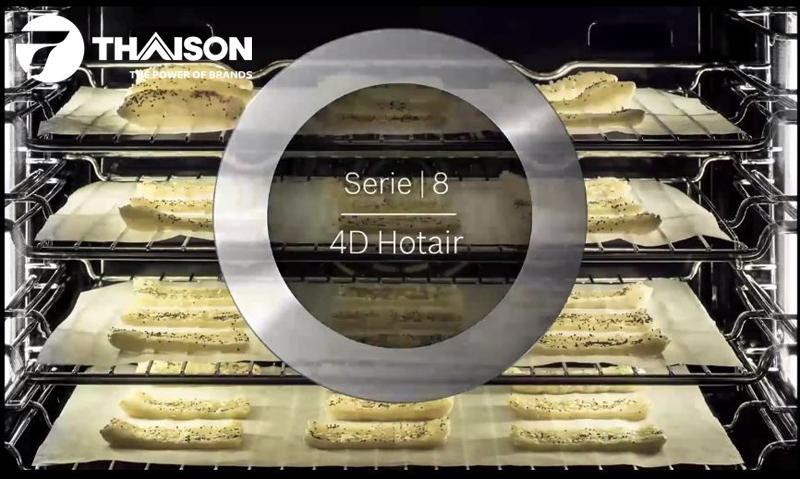 Chế độ 4D Hotair của lò nướng Bosch Series 8