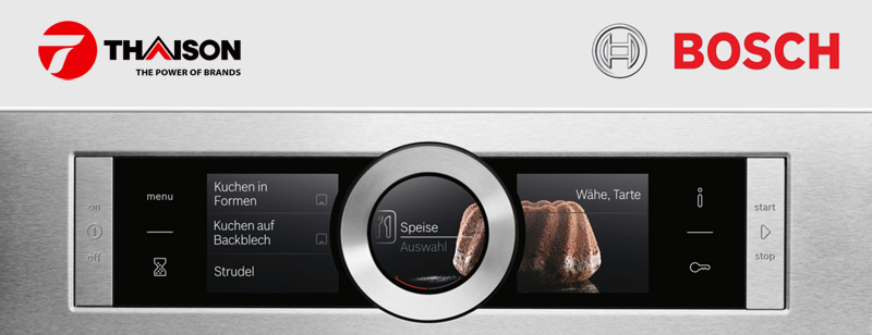 Màn hình TFT của lò nướng Bosch series 8