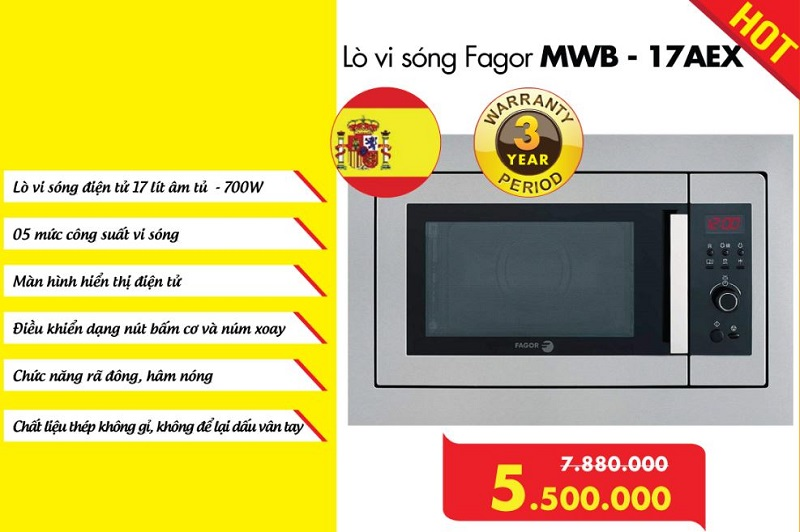 Lò vi sóng Fagor MWB-17AEX