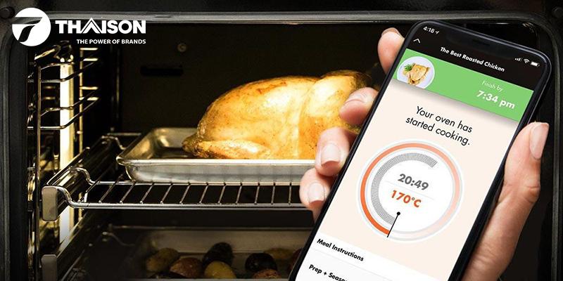 Nướng gà ở mức nhiệt 165℃ - 180℃ trong 65 phút