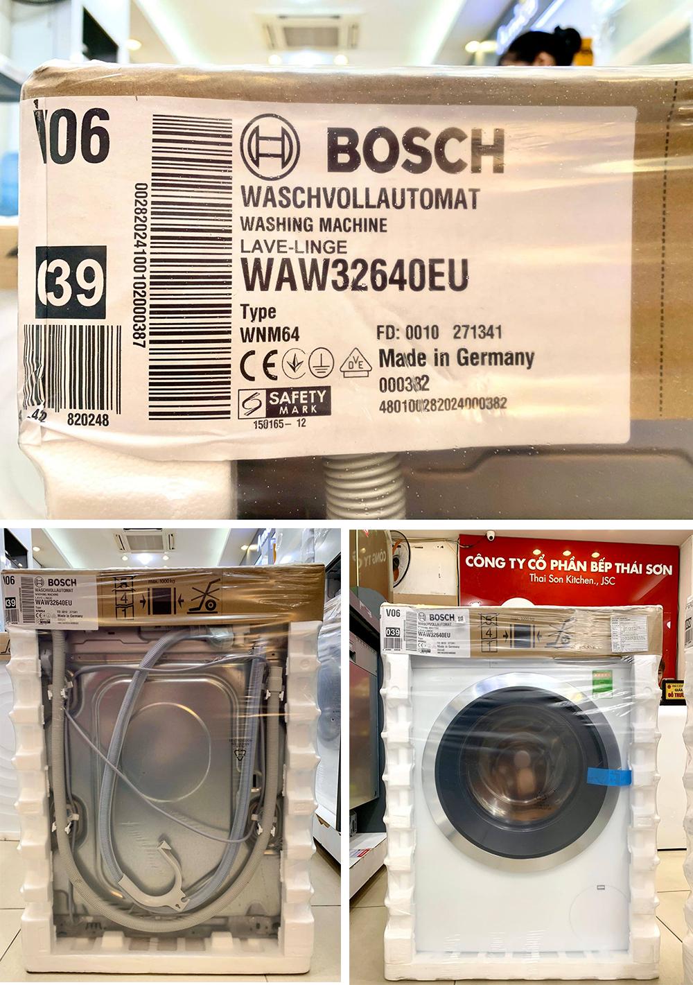 Máy giặt Bosch WAW32640EU bảo hành 03 năm HMH.
