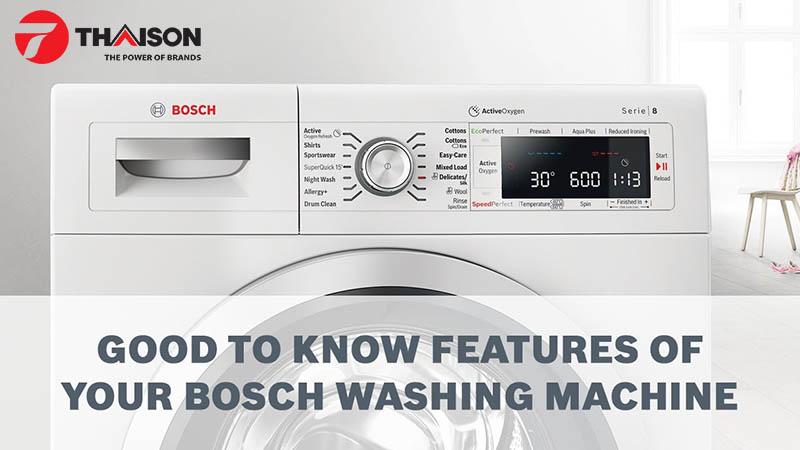 Máy giặt Bosch có nhiều tốc độ quay cho bạn lựa chọn